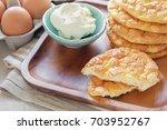 cloud bread  oopsie bread  ... | Shutterstock . vector #703952767