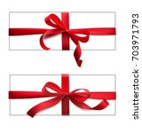 set of red bows and ribbons.... | Shutterstock .eps vector #703971793