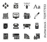 print icons set elegant series.  | Shutterstock .eps vector #703977553