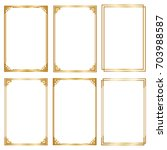 set decorative frame and... | Shutterstock .eps vector #703988587