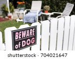 Beware Of Dog Sign Posted On...