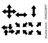 arrows icon  black sign design