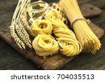 italian foods concept and menu... | Shutterstock . vector #704035513