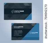 business card template. blue... | Shutterstock .eps vector #704042173