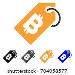 bitcoin tag icon. vector... | Shutterstock .eps vector #704058577
