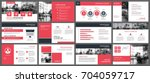red presentation templates and...