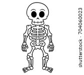 cartoon skeleton | Shutterstock .eps vector #704060023