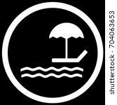 beach sign black. vector. | Shutterstock .eps vector #704063653