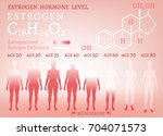 estrogen hormone level... | Shutterstock .eps vector #704071573