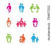 set of icons   the parents and... | Shutterstock . vector #70407232