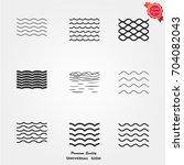 sea icons vector | Shutterstock .eps vector #704082043
