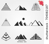 pyramid icons  pyramid icons... | Shutterstock .eps vector #704082187