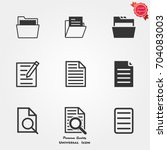 file icons  file icons vector ... | Shutterstock .eps vector #704083003
