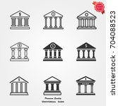 bank icons  bank icons vector ... | Shutterstock .eps vector #704088523