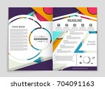 abstract vector layout... | Shutterstock .eps vector #704091163