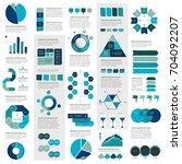 mega set of infographics... | Shutterstock .eps vector #704092207