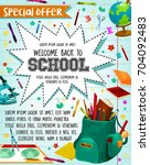 back to school sale or special...   Shutterstock .eps vector #704092483