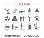 leukemia symptoms. diagnostics. ... | Shutterstock .eps vector #704092627