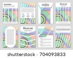abstract vector layout... | Shutterstock .eps vector #704093833