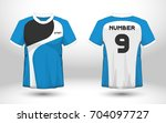 blue and white layout football... | Shutterstock .eps vector #704097727