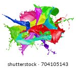 color splashes isolated on a...   Shutterstock . vector #704105143