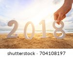 new year concept   close up... | Shutterstock . vector #704108197