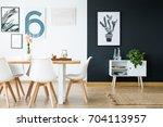 modern scandi style interior... | Shutterstock . vector #704113957