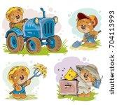 set of vector clip art... | Shutterstock .eps vector #704113993