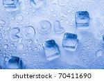 ice cubes   aqua | Shutterstock . vector #70411690
