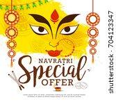 illustration of sale poster or... | Shutterstock .eps vector #704123347