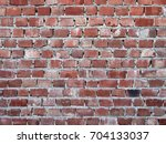 Small photo of Badly made red brick wall with mortar. Background.Shoddy work.