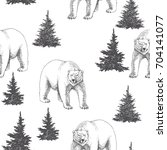 vector seamless pattern with... | Shutterstock .eps vector #704141077