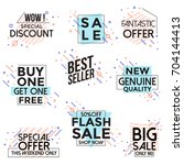 vivid collection of sale... | Shutterstock .eps vector #704144413
