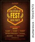 oktoberfest beer festival... | Shutterstock .eps vector #704147473