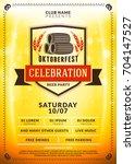 oktoberfest beer festival...   Shutterstock .eps vector #704147527