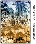 paris  france. vintage... | Shutterstock . vector #704150587