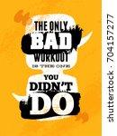 gym inspiring creative... | Shutterstock .eps vector #704157277