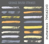 grey and yellow watercolor... | Shutterstock .eps vector #704162143