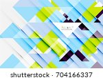 triangle pattern design... | Shutterstock . vector #704166337