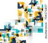 modern square geometric pattern ... | Shutterstock . vector #704171857