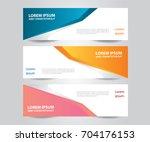 set of  vector design banner... | Shutterstock .eps vector #704176153