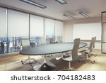 contemporary meeting room with... | Shutterstock . vector #704182483