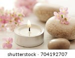 spa still life. aromatherapy...   Shutterstock . vector #704192707