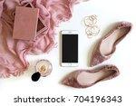 beauty   fashion blog concept.... | Shutterstock . vector #704196343
