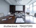 business meeting room or board... | Shutterstock . vector #704197393
