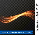 light line gold swirl effect.... | Shutterstock .eps vector #704199217