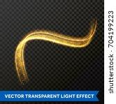 light line gold swirl effect.... | Shutterstock .eps vector #704199223