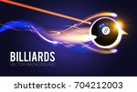 billiards ball with energy... | Shutterstock .eps vector #704212003