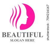 beauty care template design... | Shutterstock .eps vector #704216167