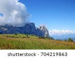 sciliar  schlern  mount is a... | Shutterstock . vector #704219863